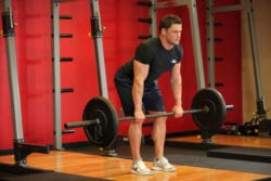 Barbell Rows - exercises to improve deadlift strength