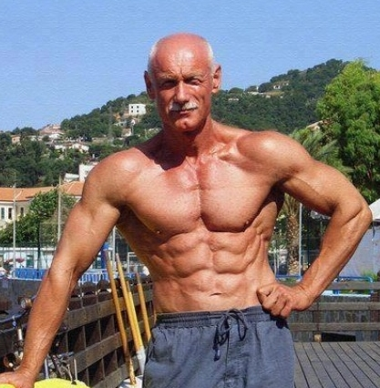 Gaining Muscle Over 50 - Muscular Older Man Posed Outside