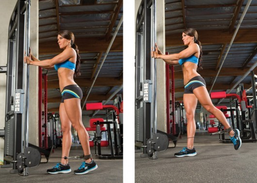 The Best Cable Exercises with an Ankle Strap - Glute toning with cable